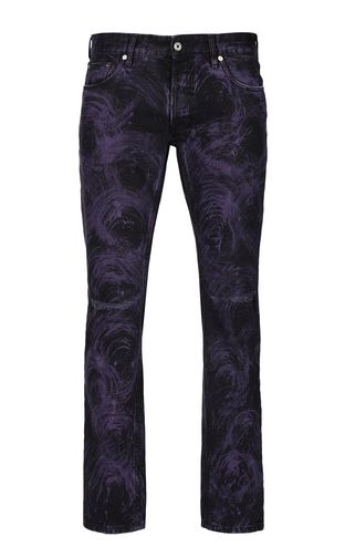 JUST CAVALLI Jeans Man Tiger-print Just-Fit jeans f