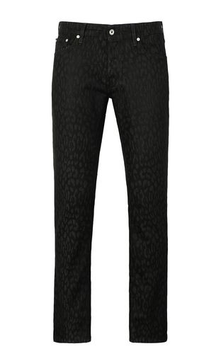 Leopard-jacquard Just-fit jeans