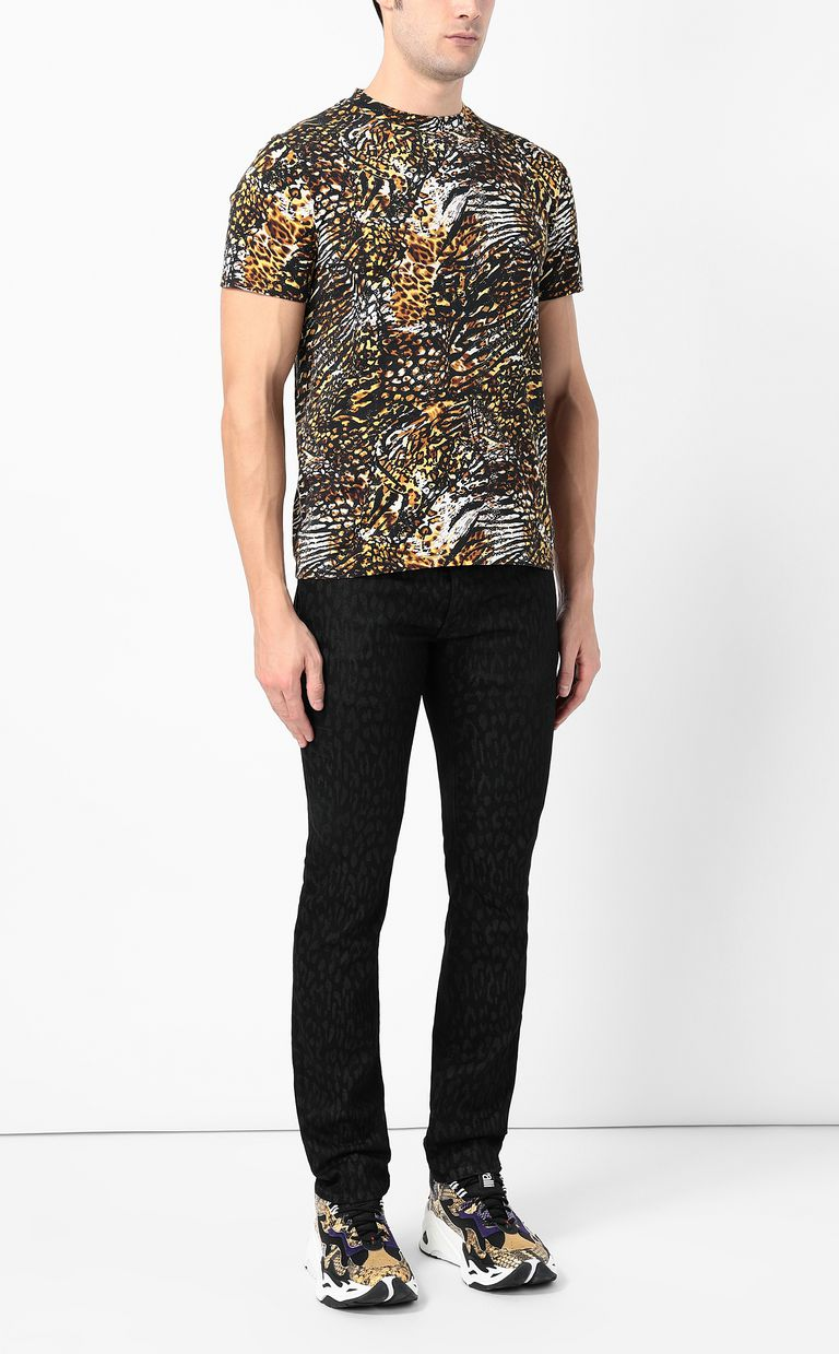 JUST CAVALLI Leopard-jacquard Just-fit jeans Jeans Man d