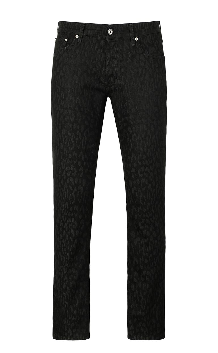 JUST CAVALLI Leopard-jacquard Just-fit jeans Jeans Man f