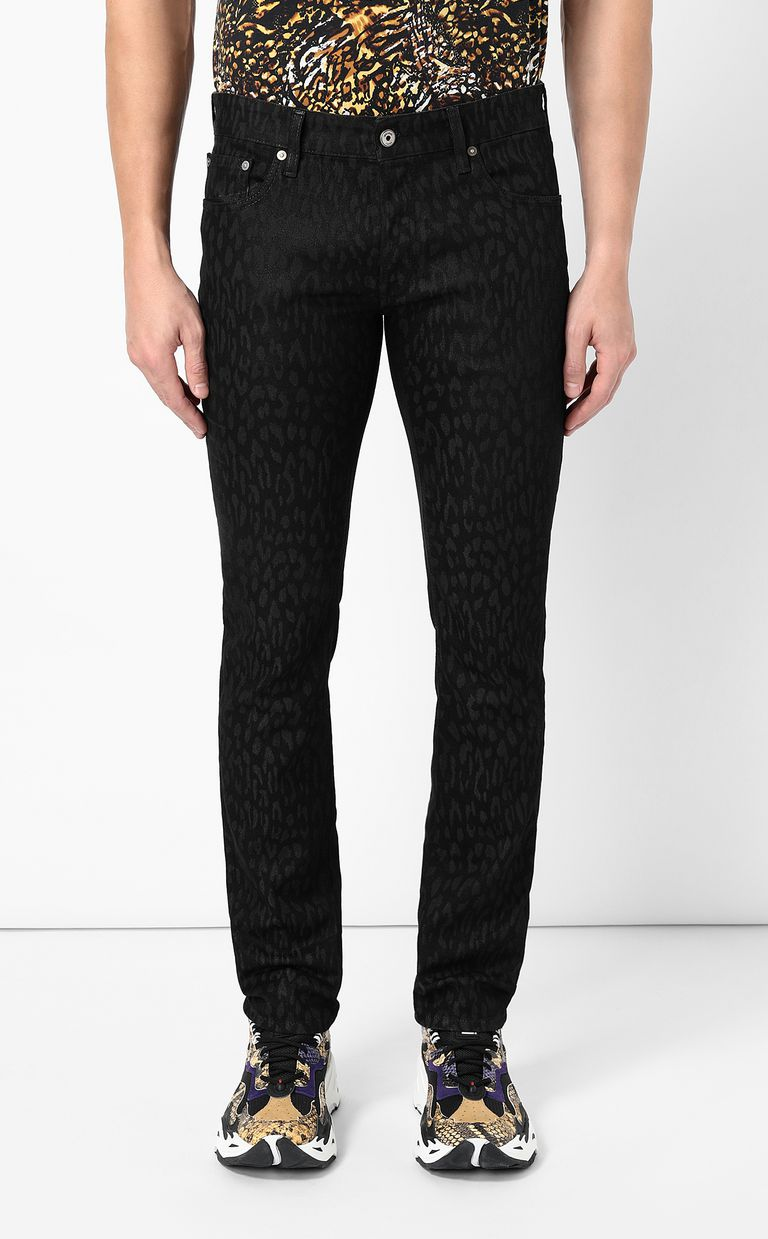 JUST CAVALLI Leopard-jacquard Just-fit jeans Jeans Man r