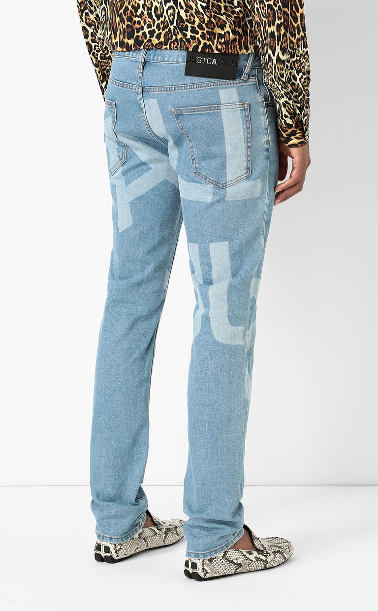 JUST CAVALLI Just-fit jeans with logo print Jeans Man a
