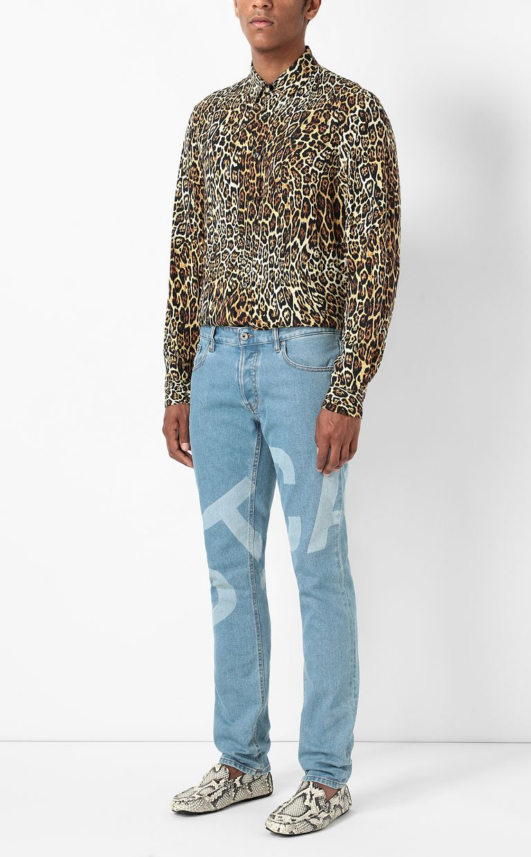 JUST CAVALLI Just-fit jeans with logo print Jeans Man d