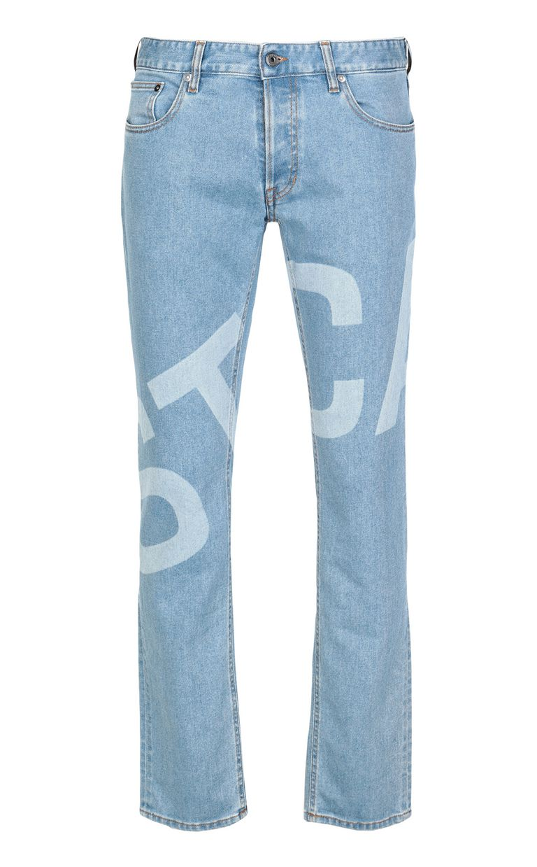 JUST CAVALLI Just-fit jeans with logo print Jeans Man f