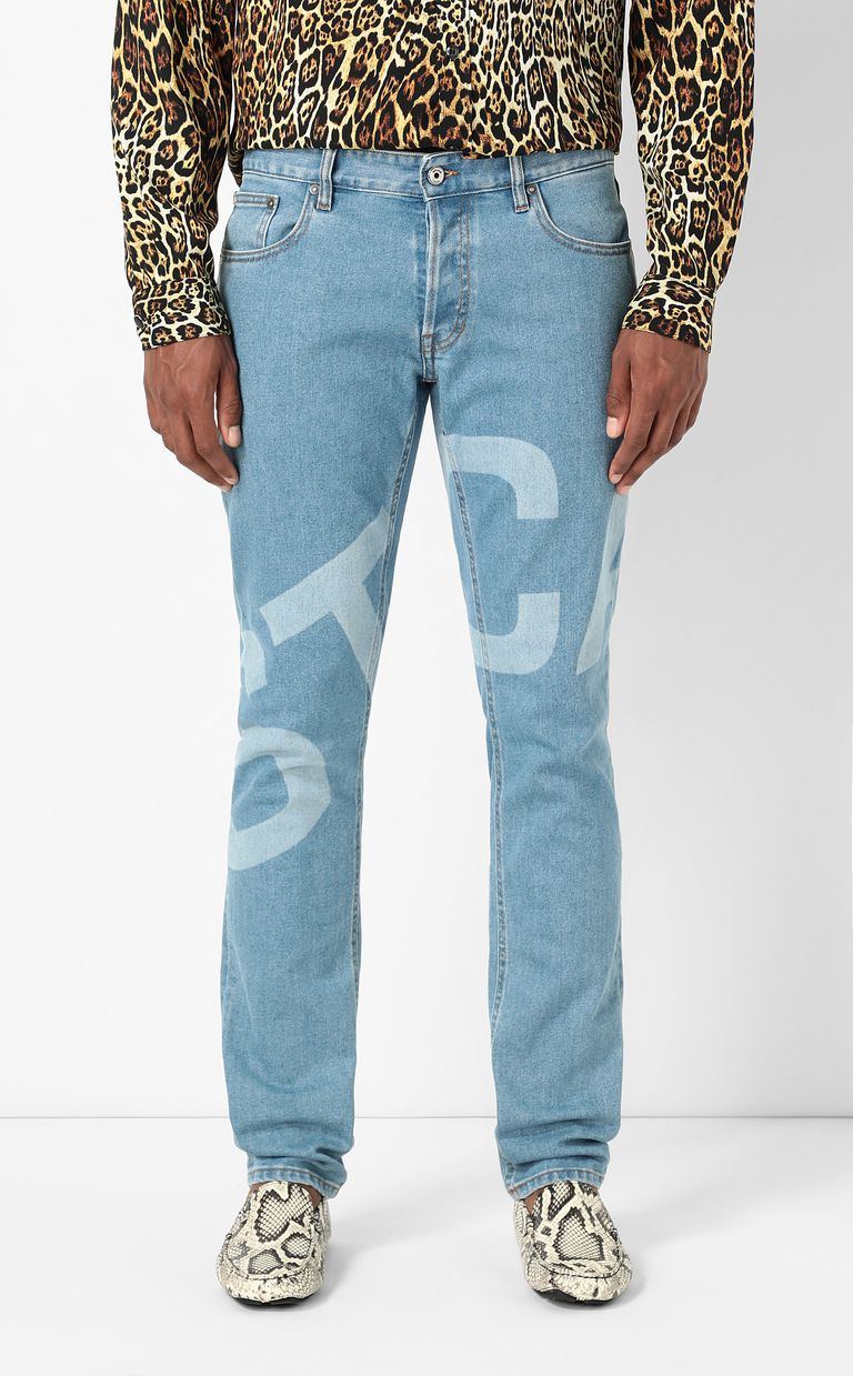 JUST CAVALLI Just-fit jeans with logo print Jeans Man r
