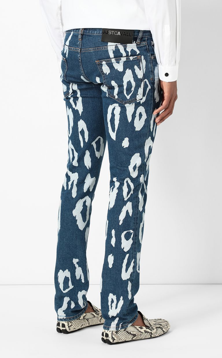 JUST CAVALLI Just-fit jeans with leo motif Jeans Man a