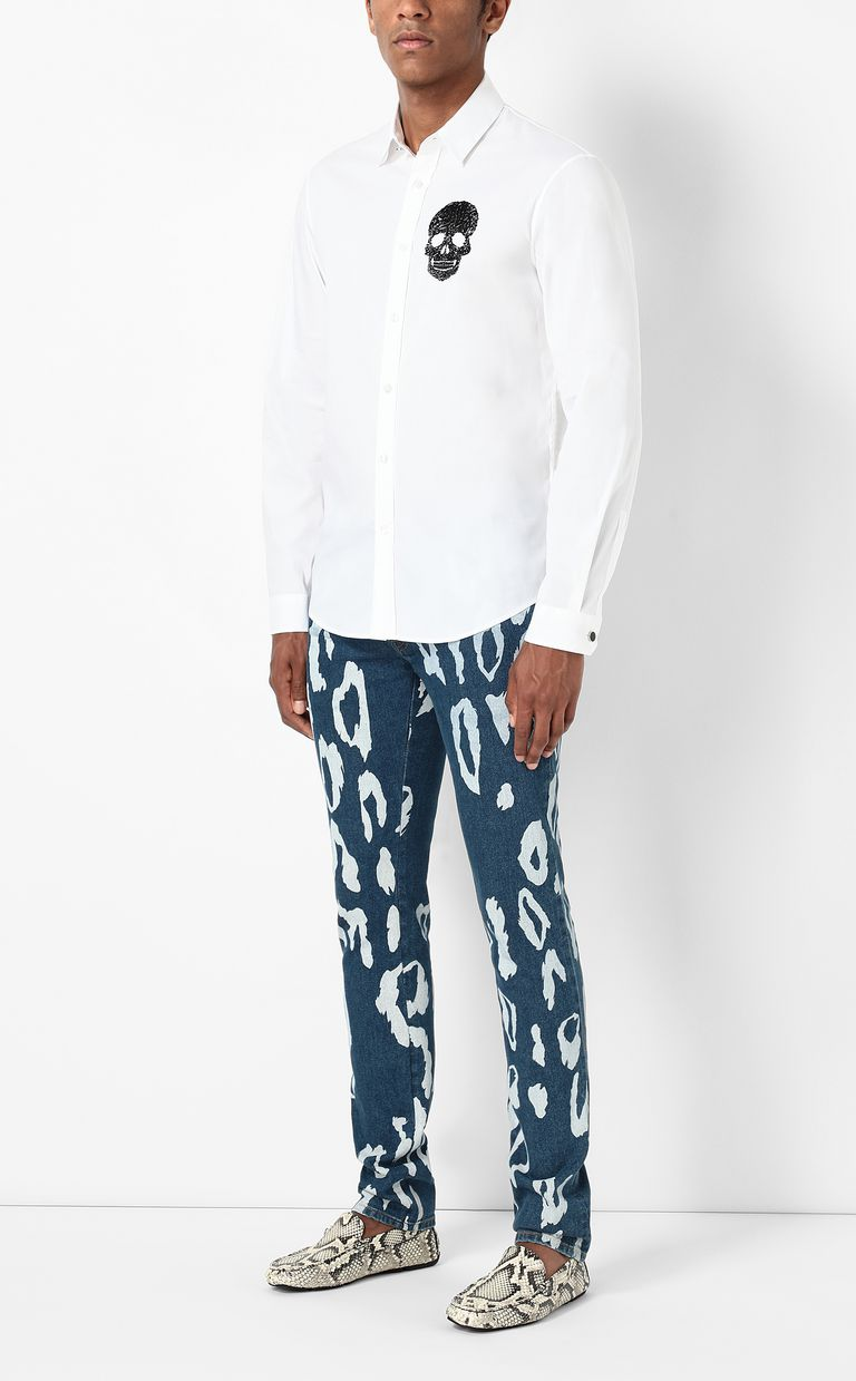 JUST CAVALLI Just-fit jeans with leo motif Jeans Man d