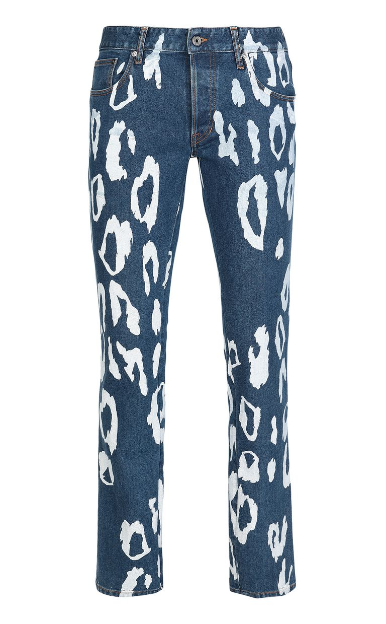 JUST CAVALLI Just-fit jeans with leo motif Jeans Man f