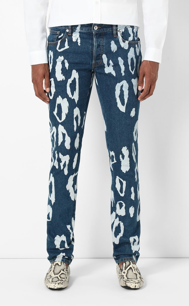 JUST CAVALLI Just-fit jeans with leo motif Jeans Man r