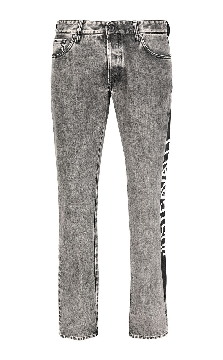 JUST CAVALLI Just-fit jeans with logo tape Jeans Man f