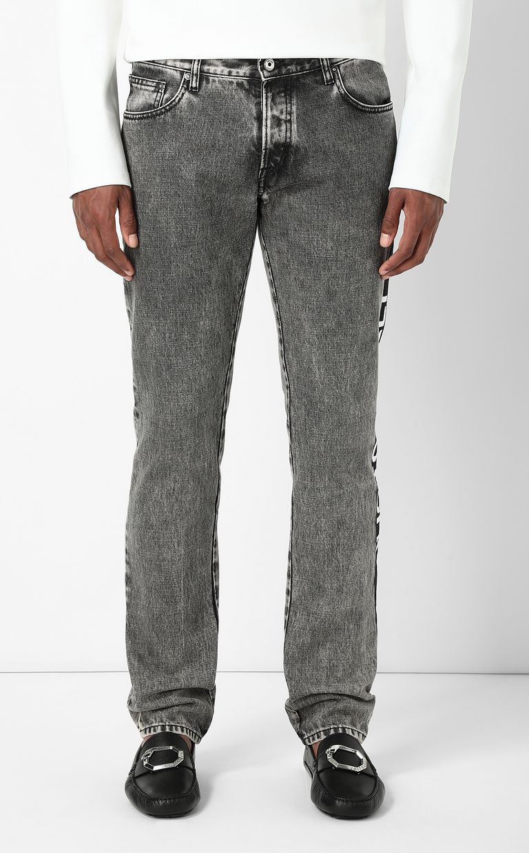 JUST CAVALLI Just-fit jeans with logo tape Jeans Man r