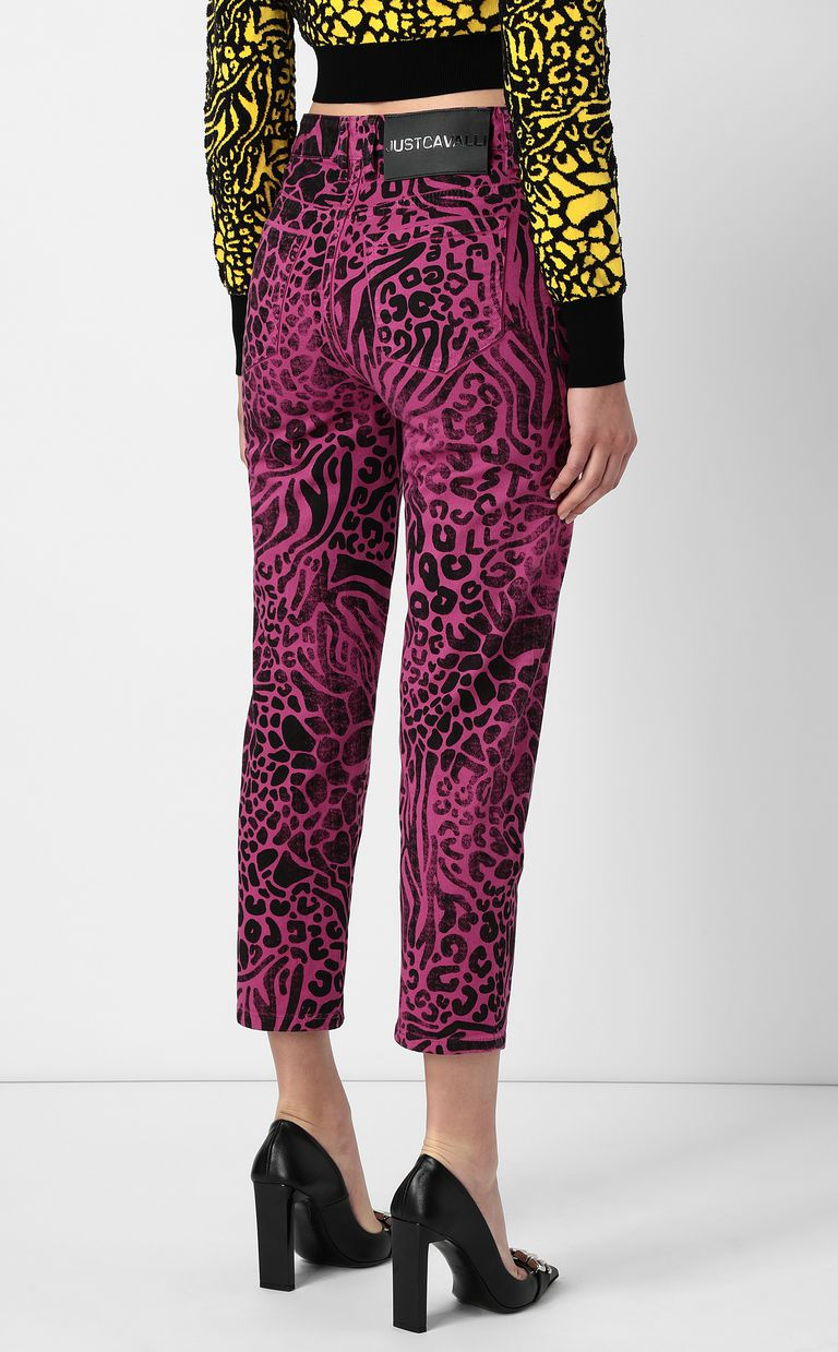 JUST CAVALLI Mom-fit jeans with Tribal-Mix print Jeans Woman a