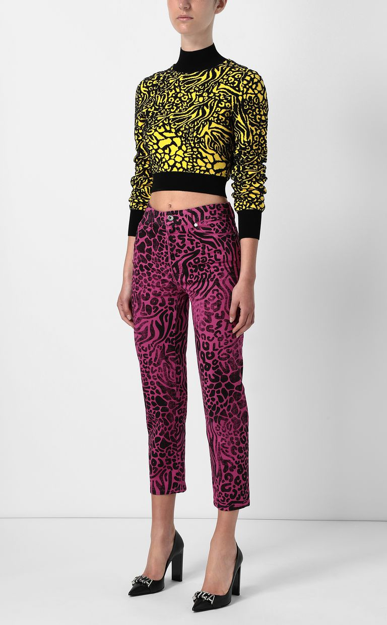 JUST CAVALLI Mom-fit jeans with Tribal-Mix print Jeans Woman d
