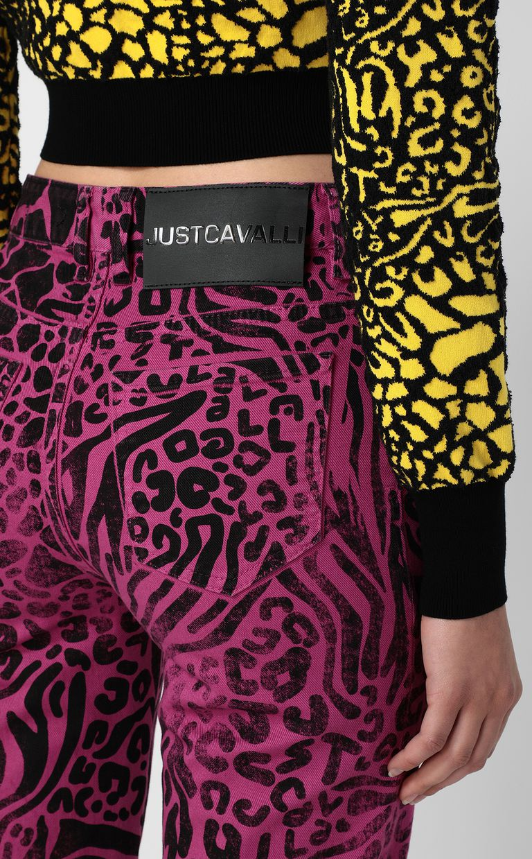 JUST CAVALLI Mom-fit jeans with Tribal-Mix print Jeans Woman e
