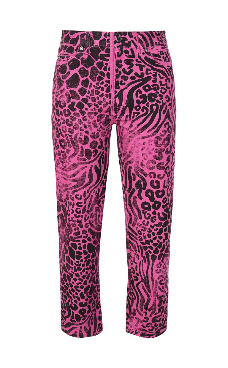 JUST CAVALLI Mom-fit jeans with Tribal-Mix print Jeans Woman f