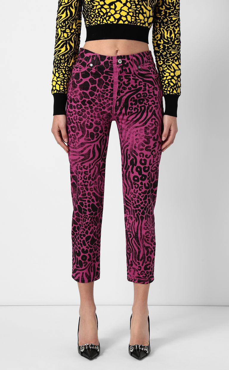 JUST CAVALLI Mom-fit jeans with Tribal-Mix print Jeans Woman r