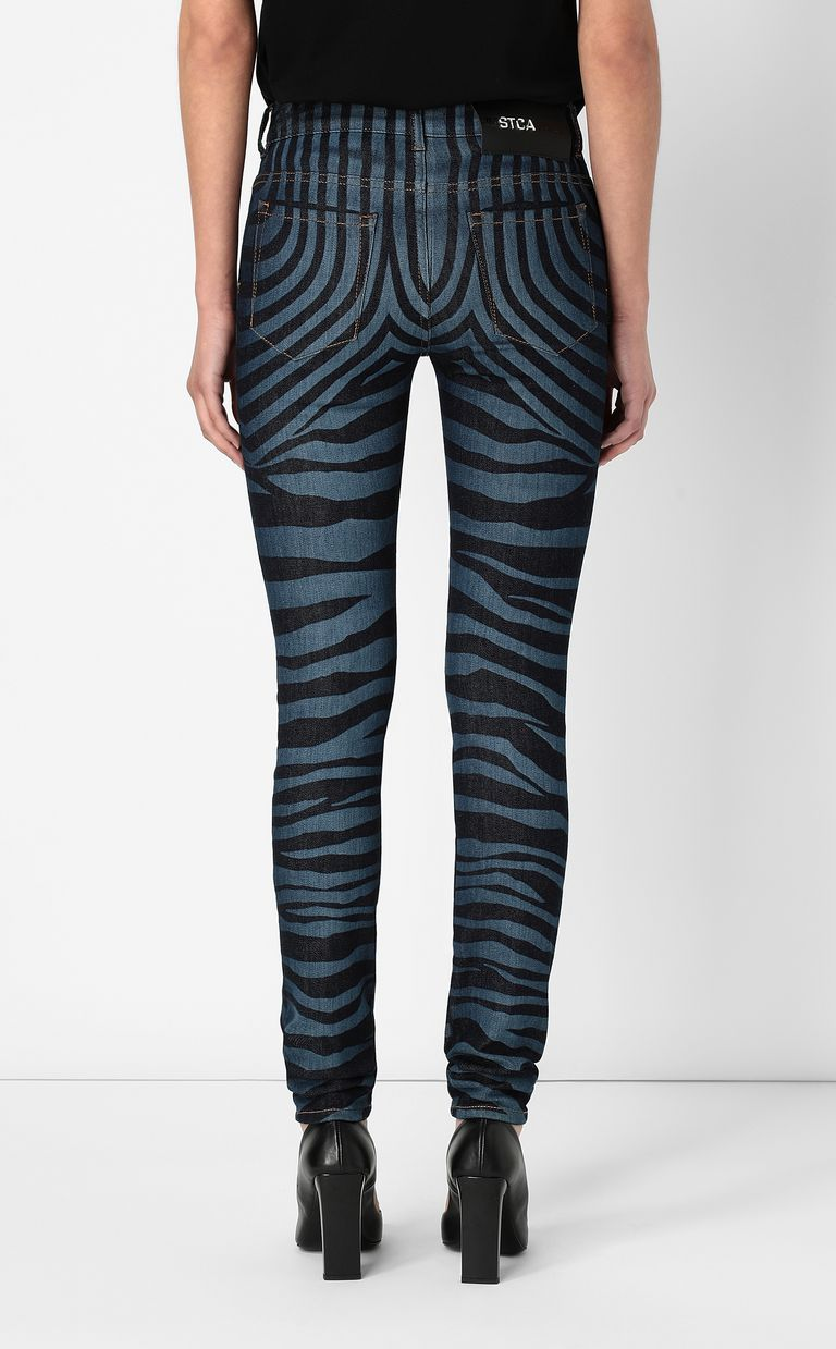 JUST CAVALLI Jeans with zebra stripes Jeans Woman a