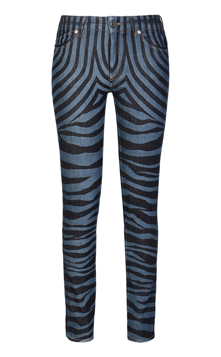 JUST CAVALLI Jeans with zebra stripes Jeans Woman f