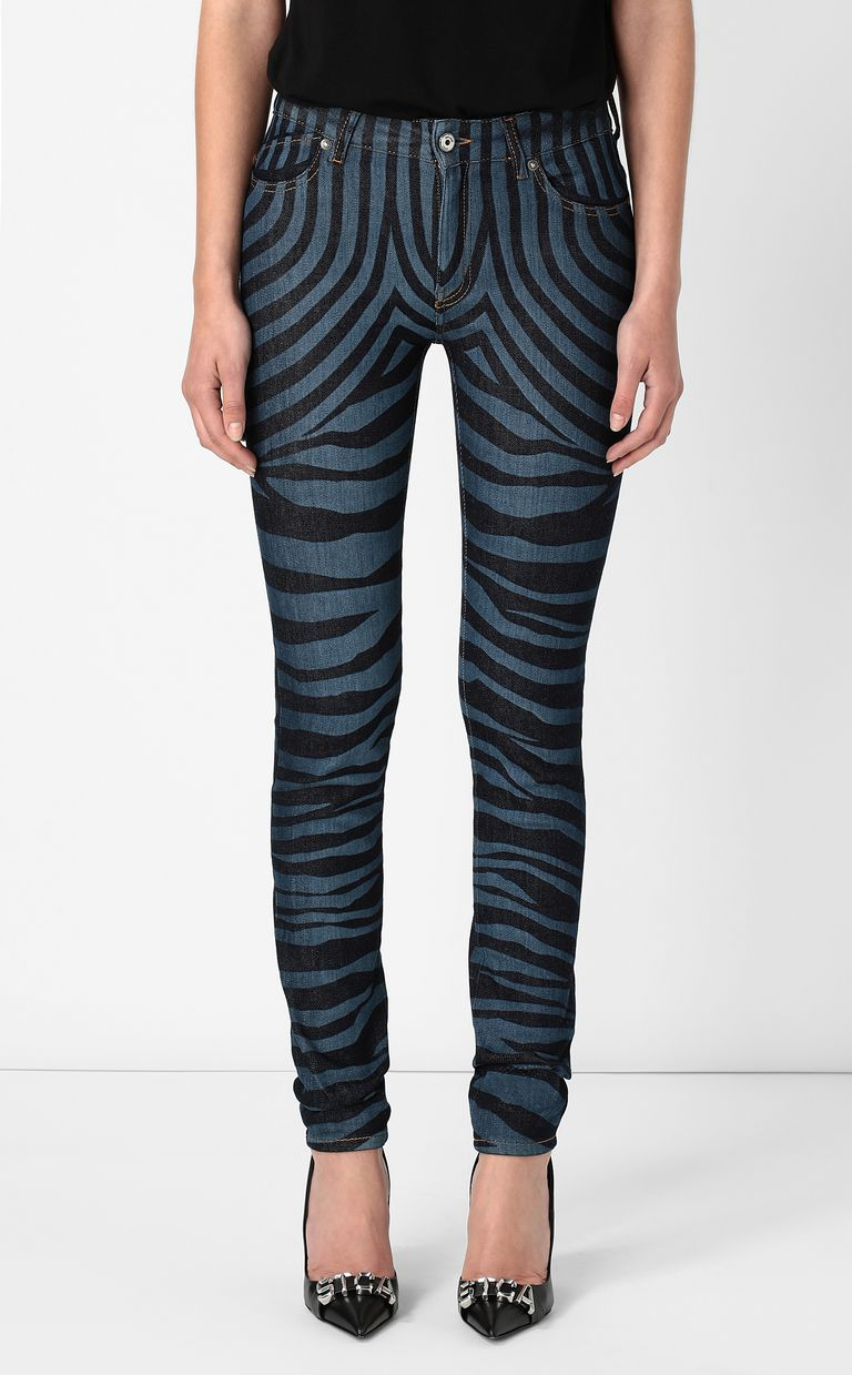 JUST CAVALLI Jeans with zebra stripes Jeans Woman r