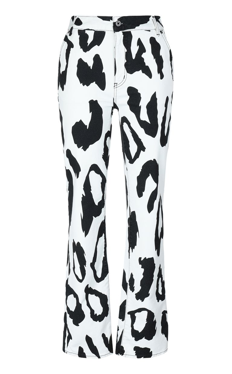JUST CAVALLI Bootcut jeans with Macro-Leo print Jeans Woman f