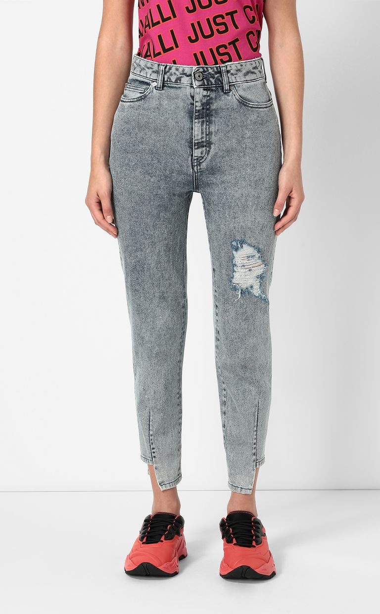 JUST CAVALLI Mom-fit jeans with ripped detail Jeans Woman r