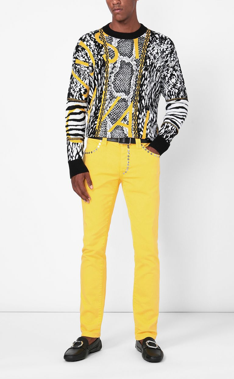 JUST CAVALLI Just-Fit jeans with studs Jeans Man d