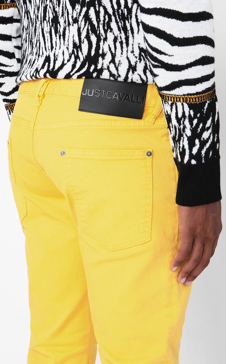 JUST CAVALLI Just-Fit jeans with studs Jeans Man e