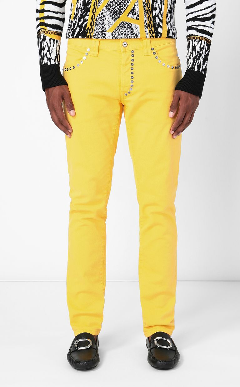 JUST CAVALLI Just-Fit jeans with studs Jeans Man r