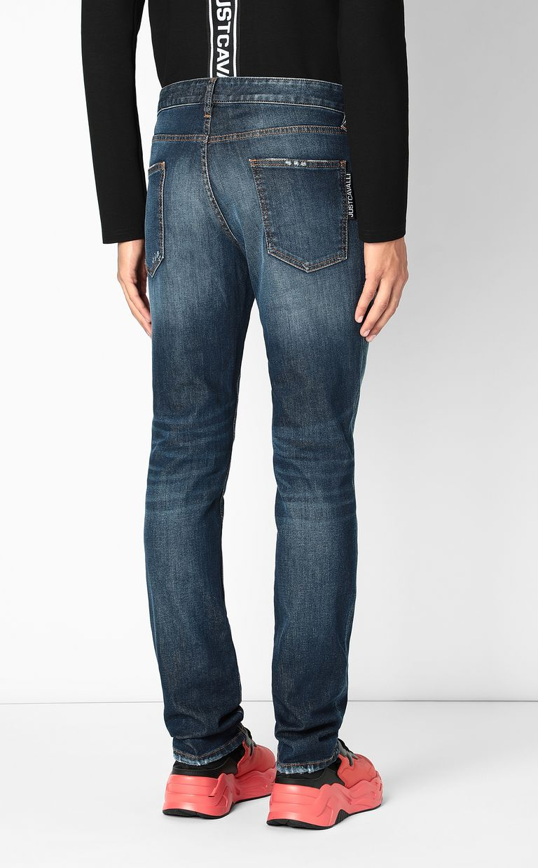 JUST CAVALLI Just-fit jeans with STCA logo Jeans Man a
