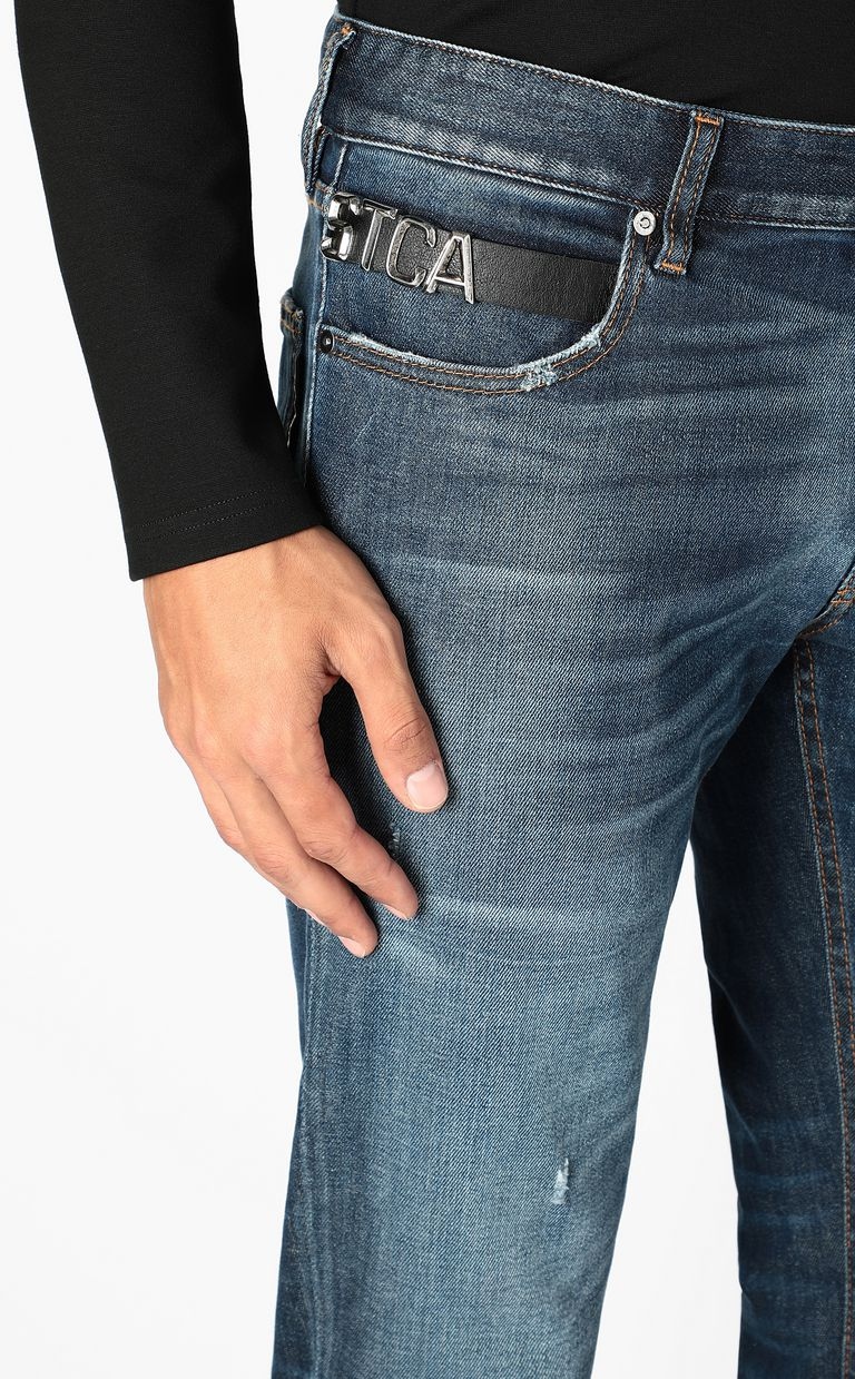 JUST CAVALLI Just-fit jeans with STCA logo Jeans Man e