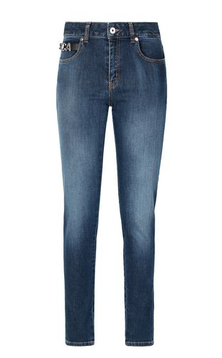 JUST CAVALLI Jeans Woman Mom-fit jeans with Tribal-Mix print f