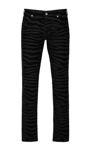 JUST CAVALLI Jeans Man Just-Fit zebra-stripe jeans f
