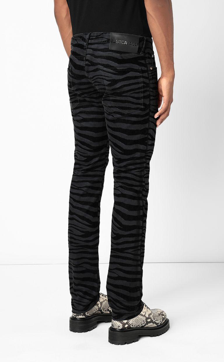 JUST CAVALLI Just-Fit zebra-stripe jeans Jeans Man a