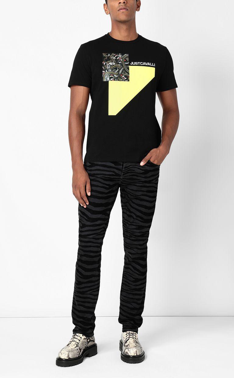 JUST CAVALLI Just-Fit zebra-stripe jeans Jeans Man d