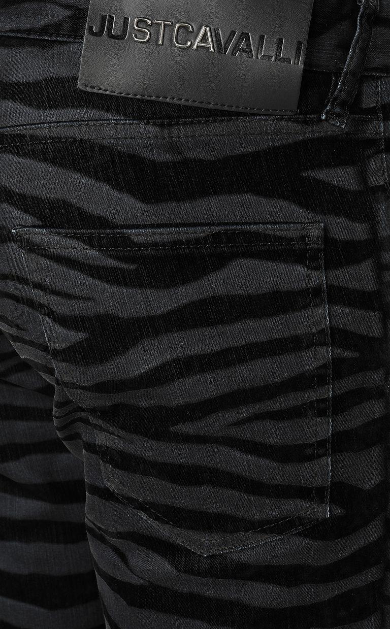JUST CAVALLI Just-Fit zebra-stripe jeans Jeans Man e