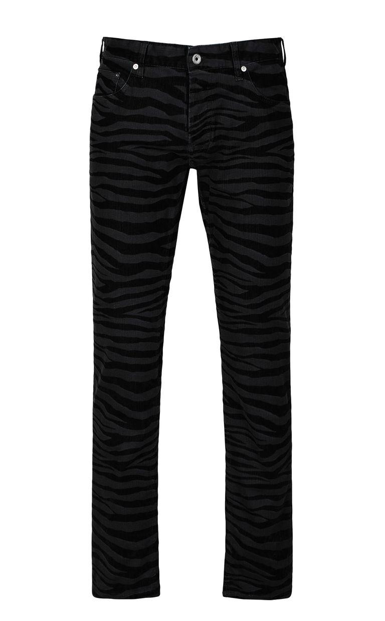 JUST CAVALLI Just-Fit zebra-stripe jeans Jeans Man f