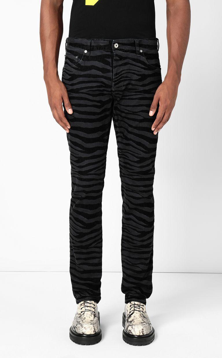 JUST CAVALLI Just-Fit zebra-stripe jeans Jeans Man r