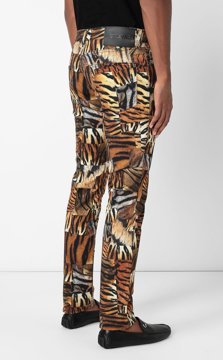 JUST CAVALLI Just-Fit jeans with print Jeans Man a