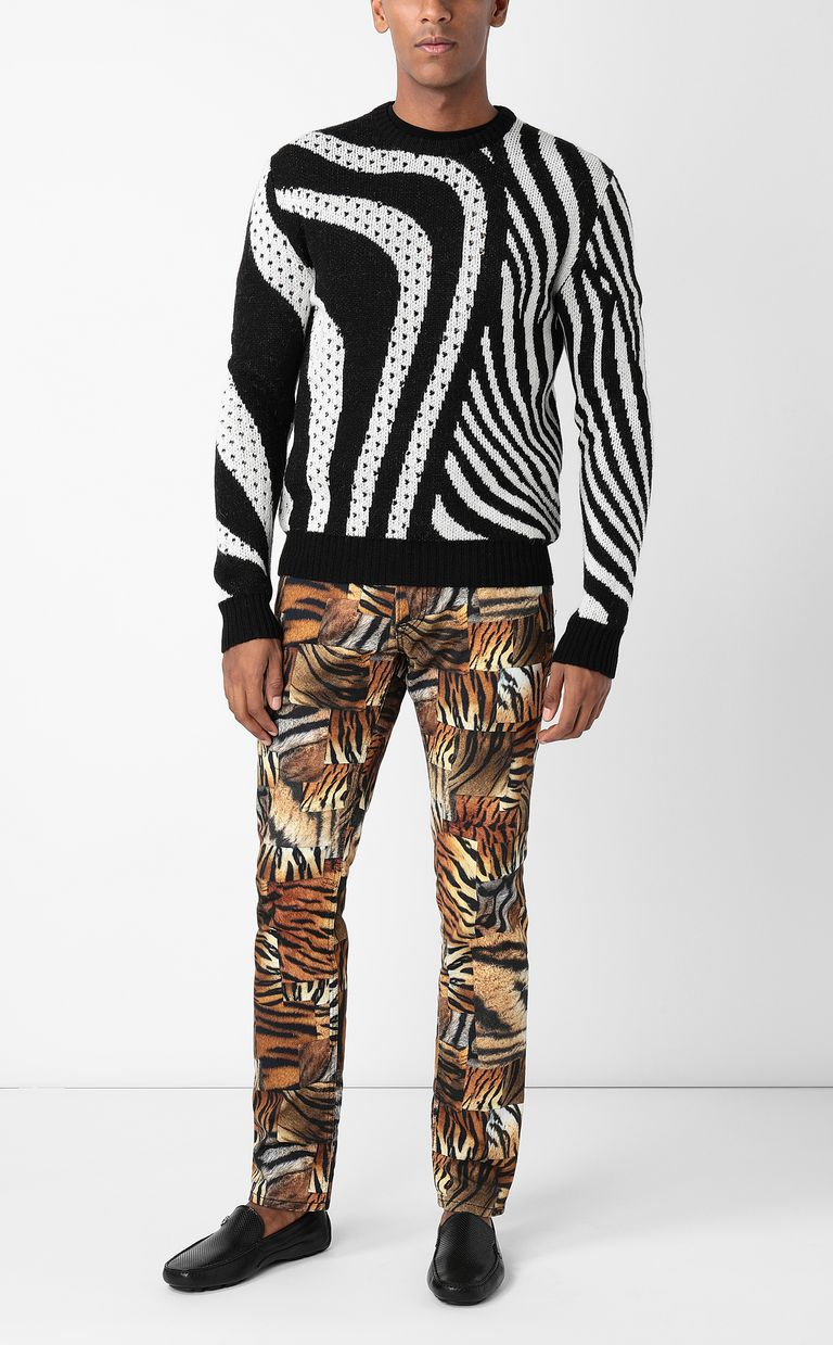 JUST CAVALLI Just-Fit jeans with print Jeans Man d