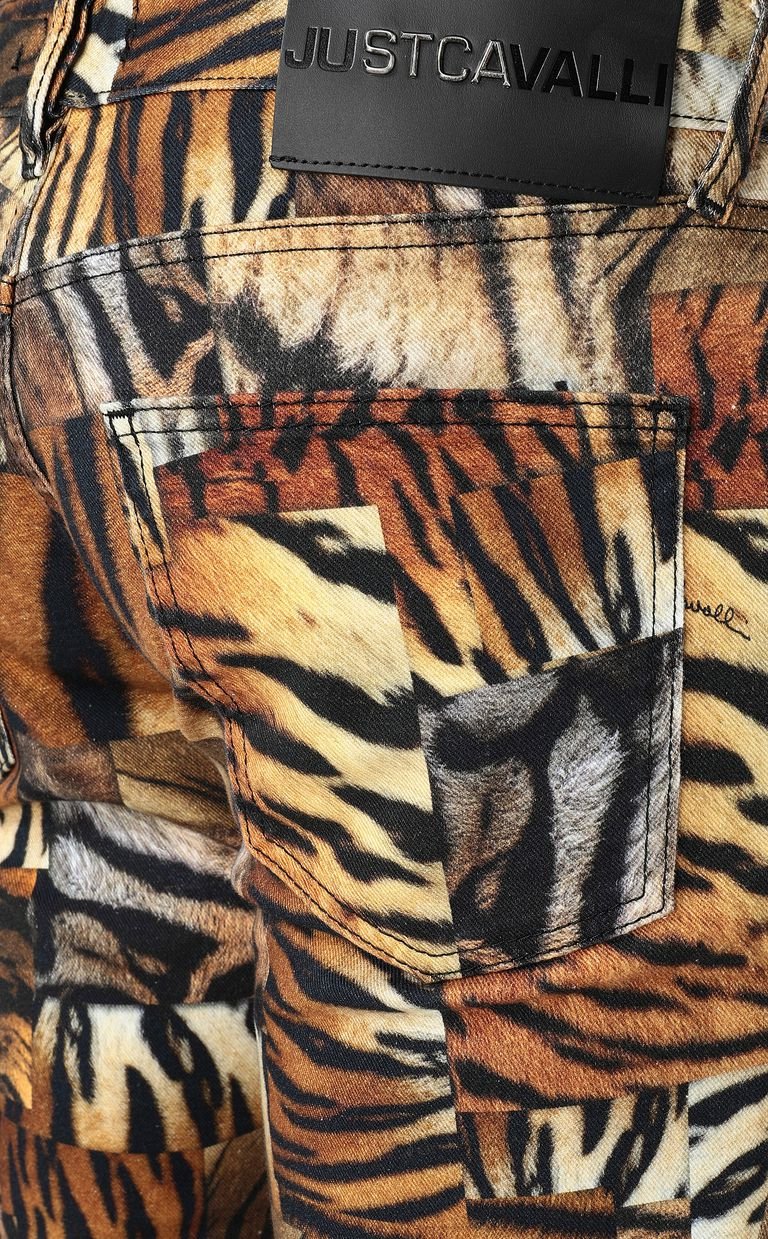 JUST CAVALLI Just-Fit jeans with print Jeans Man e