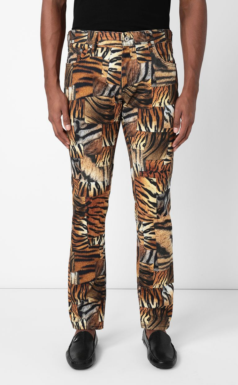 JUST CAVALLI Just-Fit jeans with print Jeans Man r