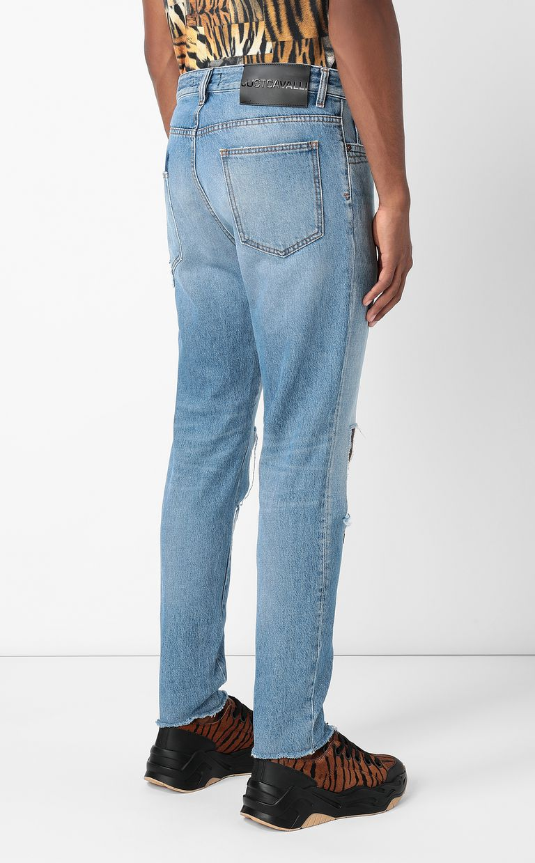 JUST CAVALLI Gabber-fit jeans with rips Jeans Man a