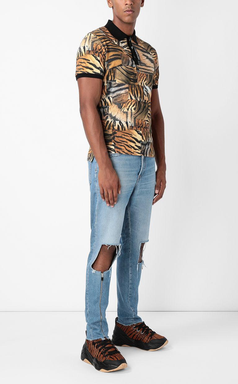 JUST CAVALLI Gabber-fit jeans with rips Jeans Man d