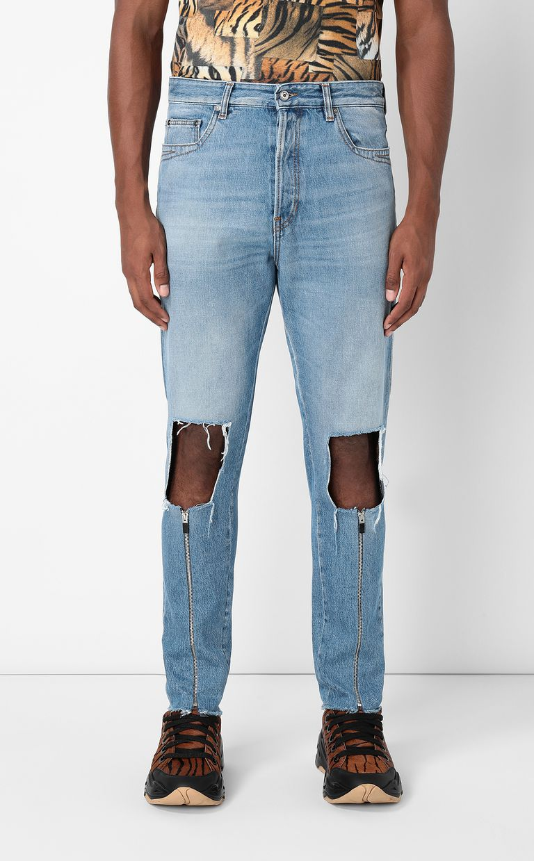 JUST CAVALLI Gabber-fit jeans with rips Jeans Man r