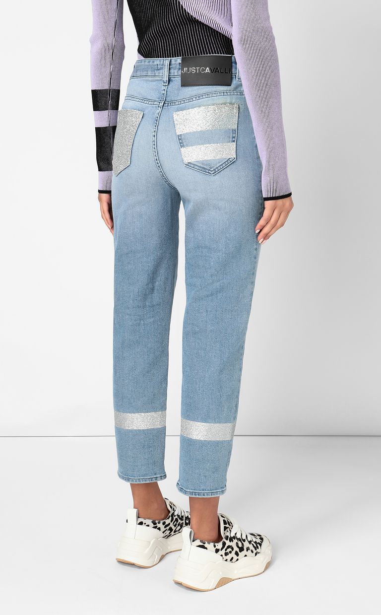 JUST CAVALLI Cropped jeans with silver details Jeans Woman a