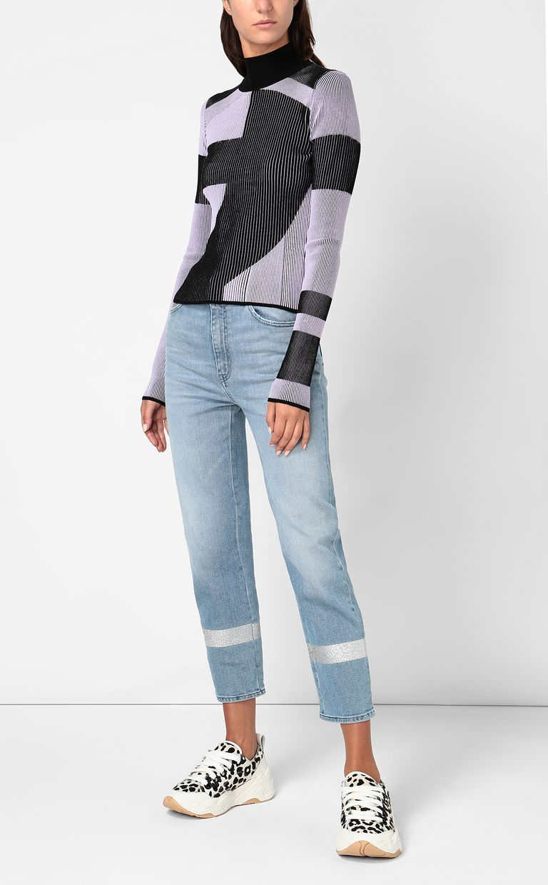 JUST CAVALLI Cropped jeans with silver details Jeans Woman d