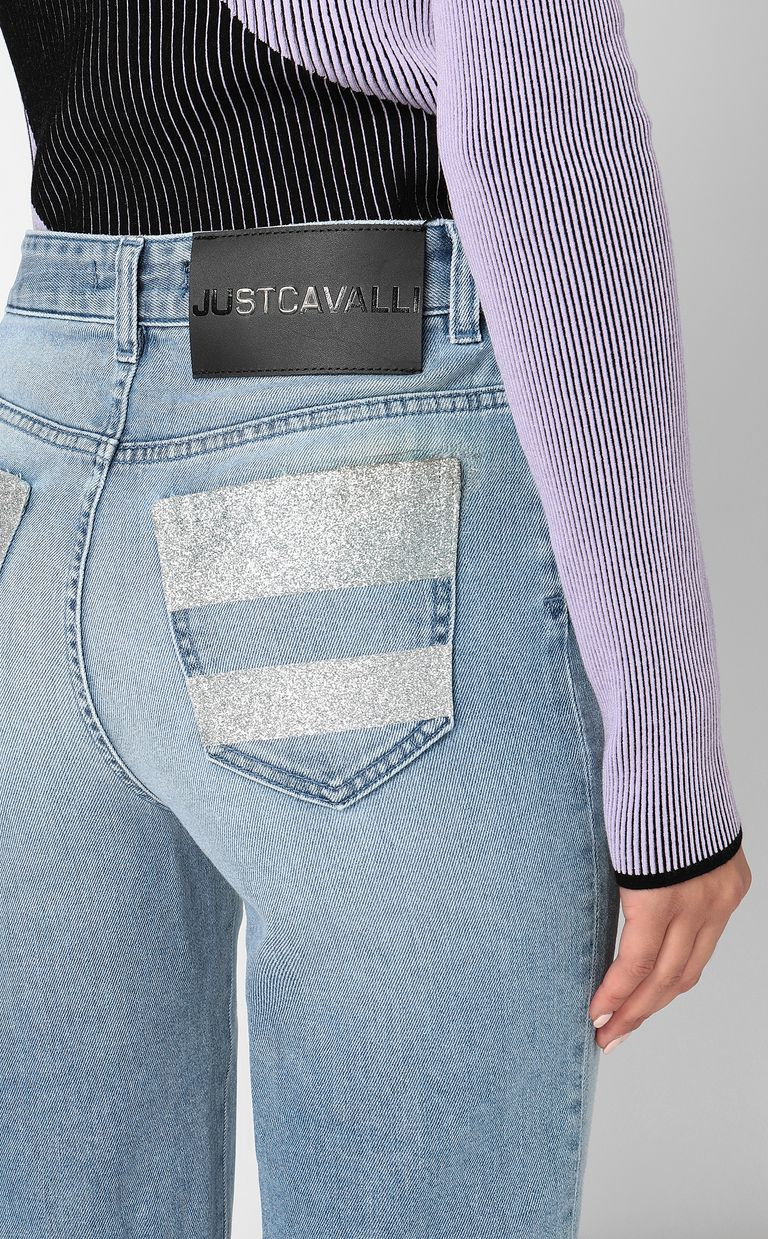 JUST CAVALLI Cropped jeans with silver details Jeans Woman e
