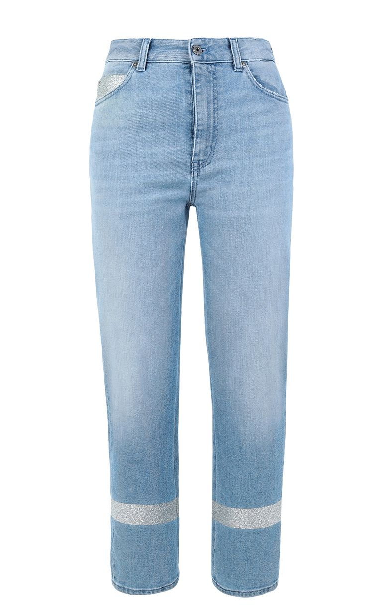 JUST CAVALLI Cropped jeans with silver details Jeans Woman f