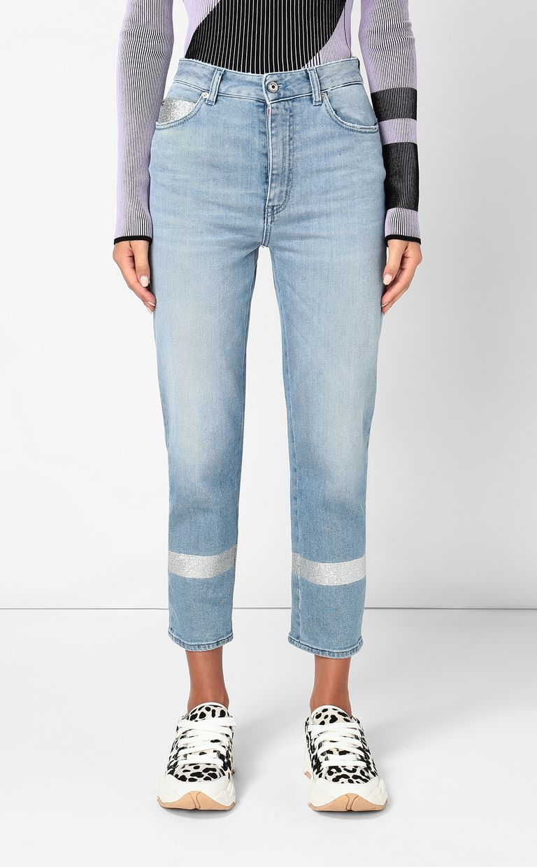 JUST CAVALLI Cropped jeans with silver details Jeans Woman r