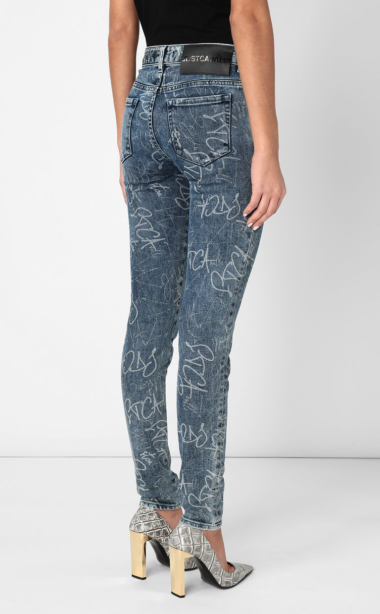 JUST CAVALLI Skinny jeans with logo print Jeans Woman a